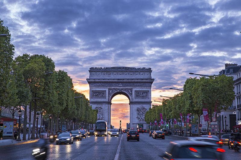 piste cyclable des Champs-Élysées
